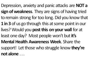 Anxiety does not make you weak