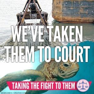 Reef fight goes legal