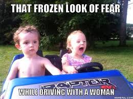 female driving