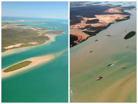 Before and After Dredging - Guess which is which.