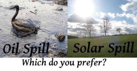 oil spill vs solar spill which do you prefer