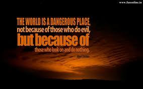 world is dangerous