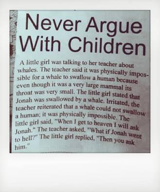 aruging with children