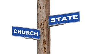 church-and-state-pole-sign