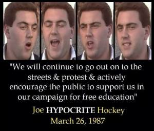 joe hockey in student days