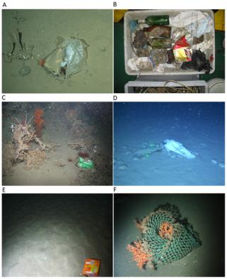 trash on ocean floor